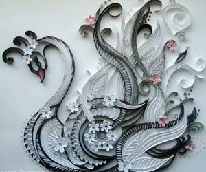 quilling and Swan image