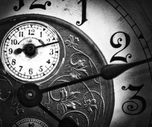 time, clock, and old image
