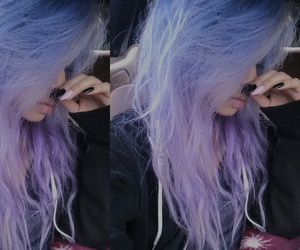 alt girl, dyed hair, and kawaii image
