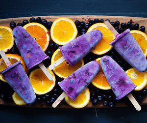 blueberry, orange, and yummy image