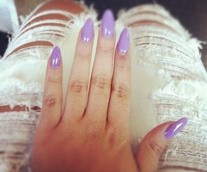 nails, purple, and jeans image
