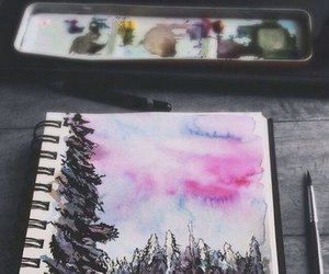 art, forest, and vintage image