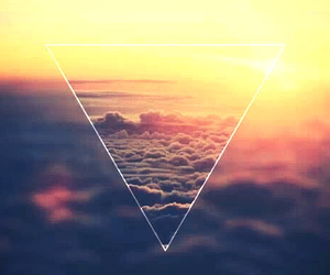 sky, clouds, and triangle image