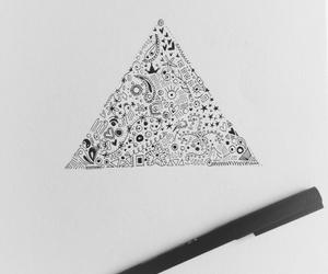 art, circles, and diamonds image