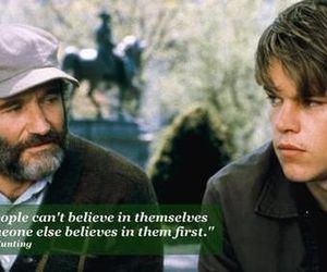 matt damon, robin williams, and good will hunting image