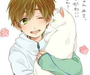 makoto, cat, and anime image