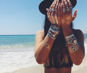 accessories, bohemian, and hat image