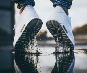 nike, shoes, and water image