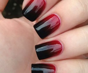 black, ombre, and nails image