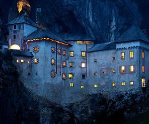 night, castle, and slovenia image