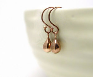 earrings, jewelry, and rose gold image