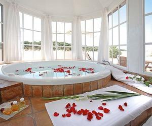 luxury, rose, and bath image