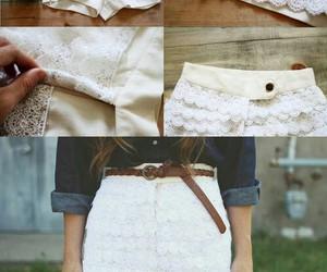 diy, shorts, and white image