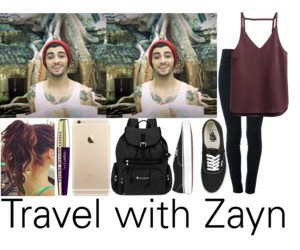 outfit, Polyvore, and travel image