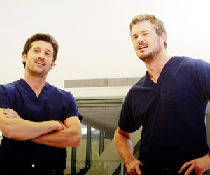grey's anatomy, patrick dempsey, and eric dane image