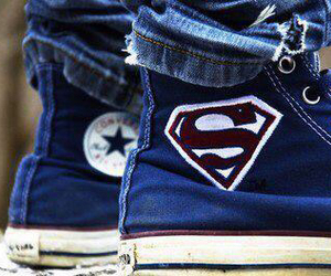 superman, converse, and shoes image