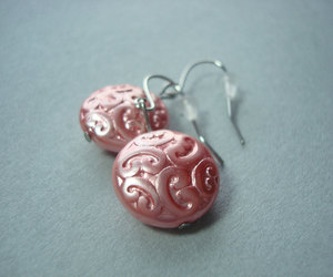 earrings, earrings for her, and pink earrings image