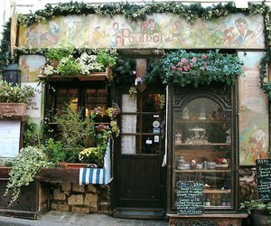 vintage, flowers, and shop image