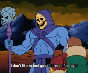 evil, cartoon, and skeletor image