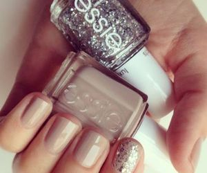nails, essie, and glitter image
