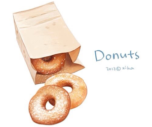 donuts, anime, and art image