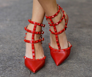 shoes, red, and Valentino image