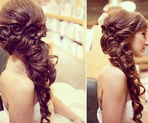 curled, hair, and pretty image