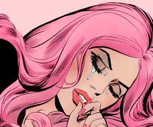 pink, cry, and sad image