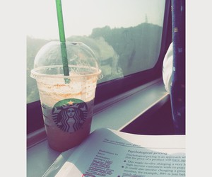 relaxation, starbucks, and studying image