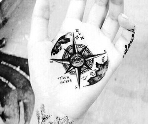 black, compass, and cool image