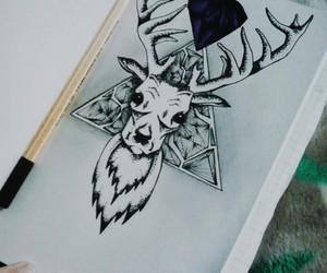 art, deer, and draw image