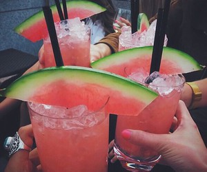 drink, watermelon, and summer image