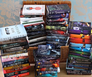 books, red queen, and cinder image