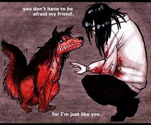 jeff the killer, creepypasta, and smile dog image