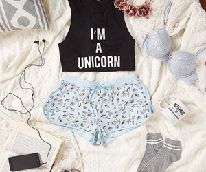 unicorn, music, and outfit image