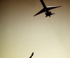 fly, child, and plane image