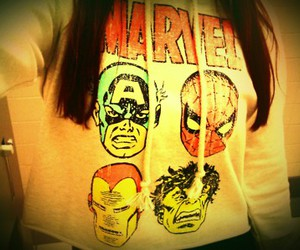 girl, Marvel, and hoodie image