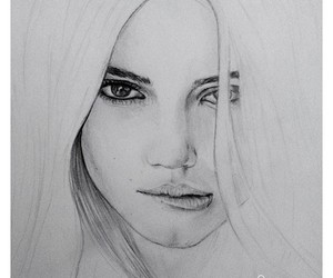 art, drawing, and kendall jenner image