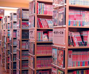 japan, manga, and books image