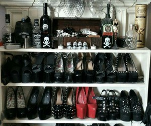 shoes, black, and gothic image