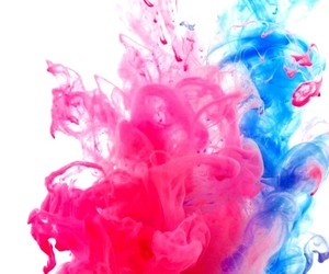 wallpaper, blue, and pink image