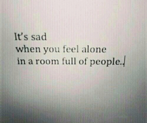 sad, quote, and alone image
