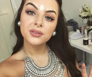 beautiful, earrings, and eyebrows image
