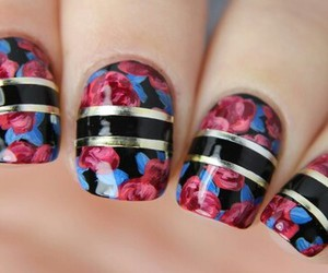 beautiful, nails, and flowers image