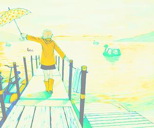 anime, anime girl, and yellow image