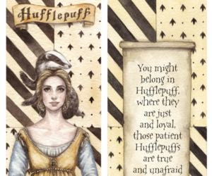 harry potter, hufflepuff, and helga hufflepuff image