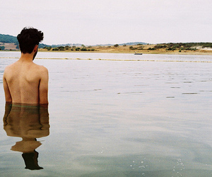boy, water, and vintage image