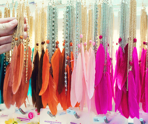 accessories, colorful, and feather earrings image