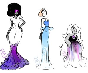 amethyst, dress, and fashion image
