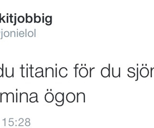 titanic, twitter, and swedish quotes image
